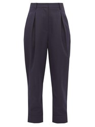 Tibi Recycled Tailored Technical Twill Trousers Navy