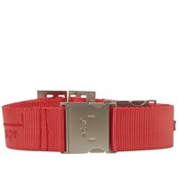 A Cold Wall Industrial Webbing Belt Red
