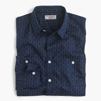 J.Crew Albiate 1830 For Wallace And Barnes Shirt In Lightweight Indigo Dyed Cotton