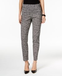 Jm Collection Printed Pull On Ankle Pants Only At Macy's Dot Dash
