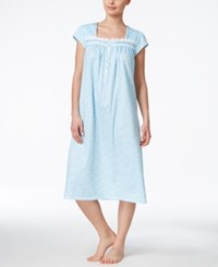 Eileen West Cap Sleeve Nightgown Blue Print