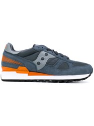 Saucony Lace Up Trainers Men Leather Suede Polyamide Rubber 45 Blue