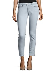 Ag Adriano Goldschmied Cotton Blend Ankle Length Jeans Light Blue