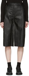 Maison Martin Margiela Mm6 Black Faux Leather Culottes