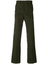 Barbour Traditional Fit Moleskin Trousers Green