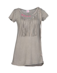 Scee By Twin Set T Shirts Grey