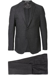 Corneliani Plaid Two Piece Suit Brown