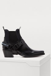 Prada Removable Strap Ankle Boots Black