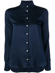 Barba Classic Slim Shirt Blue