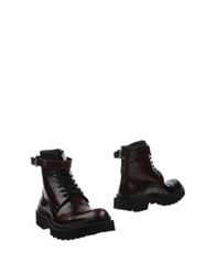 Massimo Villore Ankle Boots Maroon