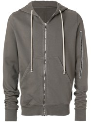 Rick Owens Drkshdw Front Zipped Sweater Grey