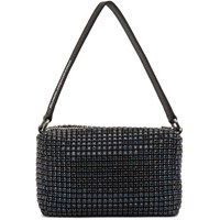 Alexander Wang Navy Medium Rhinestone Top Handle Bag