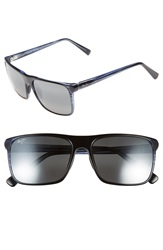 Maui Jim 'Flat Island' 58Mm Polarized Sunglasses Blue Stripe Neutral Grey