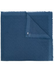 Christian Dior Homme Woven Style Scarf Blue