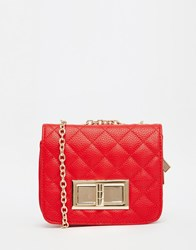 Liquorish Quilted Mini Cross Body Bag Red