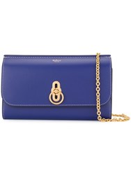 Mulberry Smooth Amberley Clutch Blue