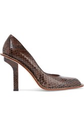 Marni Python Pumps Dark Brown
