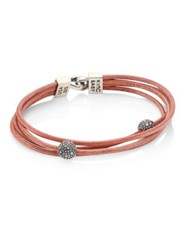 King Baby Studio Multi Strand Leather And Sterling Silver Bracelet Brown