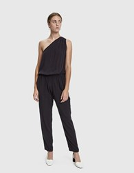 Which We Want Cristie One Shoulder Jumpsuit Washed Black
