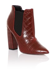 Paper Dolls Croc Chelsea Boots Red