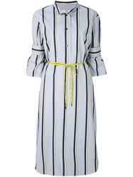 Odeeh Striped Design Dress Grey