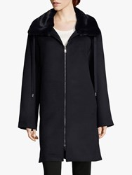 Betty Barclay Faux Fur Collar Coat Deep Navy