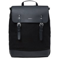 Sandqvist Hege Canvas And Leather Backpack Black