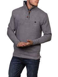 Raging Bull Men's Jersey Button Neck Sweat Grey