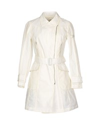 Piquadro Coats And Jackets Full Length Jackets Women Ivory