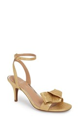 Linea Paolo Haven Ankle Strap Sandal Metallic Gold Leather