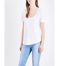 Ag Jeans The Kiley Cotton Jersey T Shirt True White