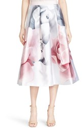 Ted Baker Women's London 'Jolana Porcelain Rose' Full Midi Skirt