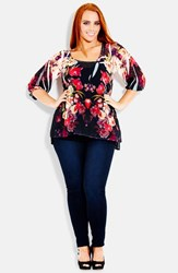 Plus Size Women's City Chic 'Romantic Crush' Top With Camisole
