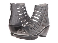 Jambu Brookline Gunmetal Women's Wedge Shoes Gray
