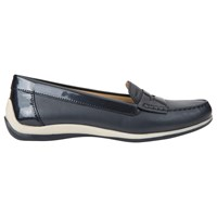 Geox Yuki Flat Loafers Navy