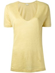 By Malene Birger Jyttio T Shirt Women Linen Flax S Yellow Orange