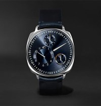 Ressence Type 1 Squared Mechanical 40Mm Stainless Steel And Leather Watch Blue