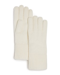 C By Bloomingdale's Cashmere Ribbed Gloves Ivory