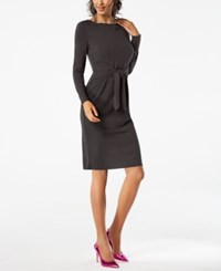 Inc International Concepts Petite Tie Waist Dress Created For Macy's Venetian Moss