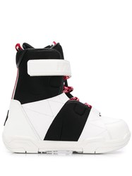 Moncler Grenoble Lace Up Ankle Boots White