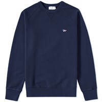 Maison Kitsune Tricolour Fox Crew Sweat Blue