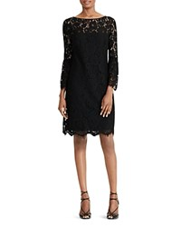 Ralph Lauren Petites Lace Dress Black Wheat