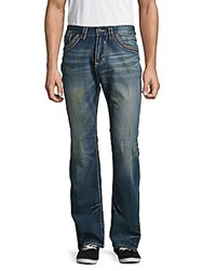 Affliction Printed Whiskered Denim Pants Arcadia