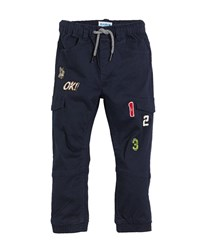 Mayoral Woven Jogger Pants W Assorted Patches Blue