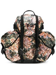 Y 3 Floral Camouflage Utility Backpack Yellow And Orange