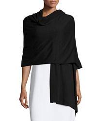Minnie Rose Rolled Trim Cotton Wrap Black