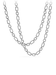 David Yurman Cushion Link Chain Necklace With 18K Gold Silver