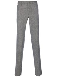 Incotex Houndstooth Trousers Cotton Black