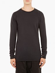 Thom Krom Black Longline Cotton Sweatshirt