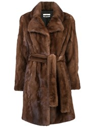 Mid Length Coat Brown